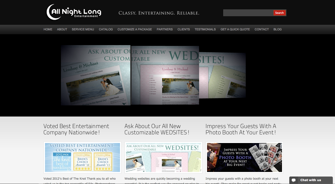 All Night Long Website
