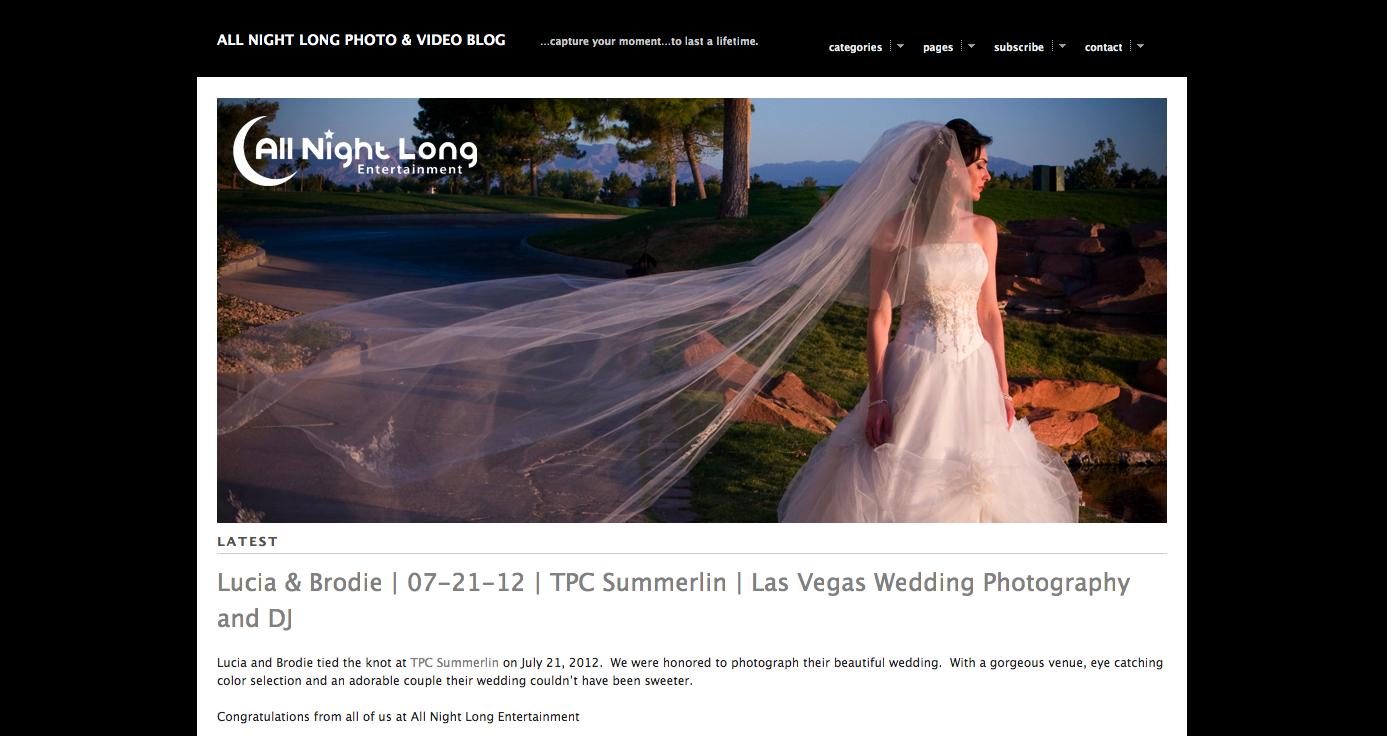 All Night Long Blog Website