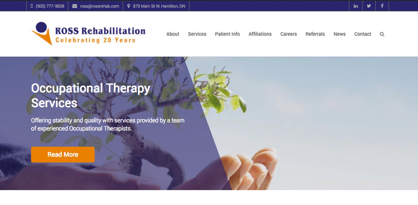Ross Rehab Website